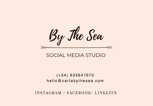 carlabythesea - redes sociales y contenidos